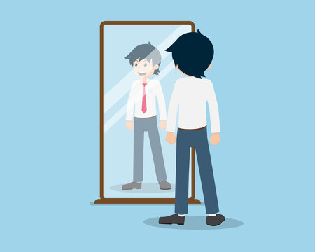 Salary Man 01 are Look into the Mirror. Check yourself out as a person.