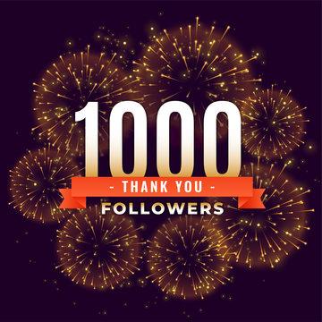 1000 followers thank you celebration firework template