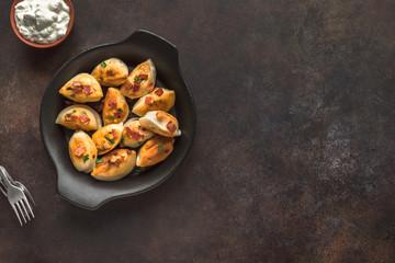 Fried dumplings, pierogi