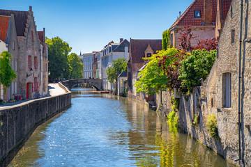 Beautiful city Bruges (Brugge) old town in Belgium, Europe