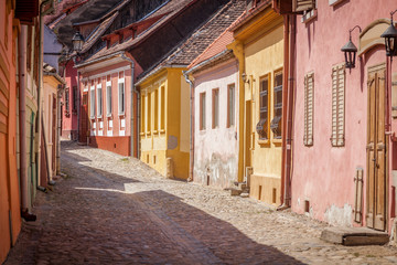 Acrylic Prints Eastern Europe Old architecture of Sighisoara