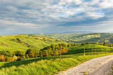Papiers peints Vignoble Rolling rural landscape in Tuscany, Italy