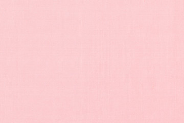 Woven cotton linen fabric textile textured backdrop in pastel light sweet romantic pink red color tone Wall mural