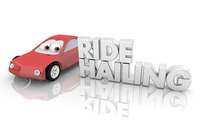 Ride Hailing Service Car Vehicle Automobile 3d Illustration