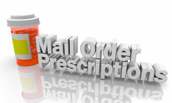 Mail Order Prescriptions Pills Medicine Bottle 3d Illustration