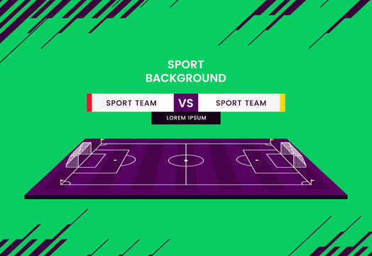 Soccer match schedule Vector illustration sports background