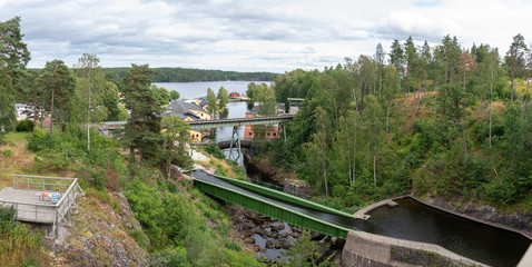 View of the aqueduct of Haverud, Sweden.