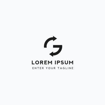 Logo Letter G Unique, Concept Letter G + Icon/Symbol Sync.