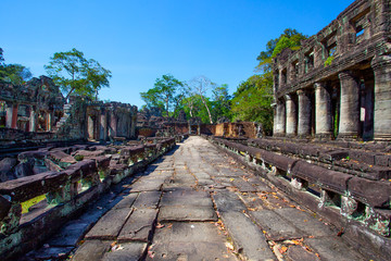 Ruins of temple in the Angkor