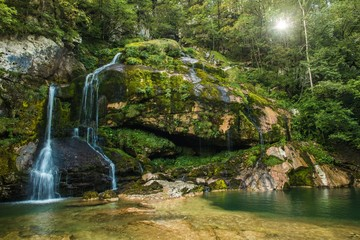 Wall Mural - Scenic Slovenia Virje Waterfall
