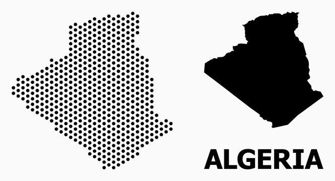 Pixel Pattern Map of Algeria