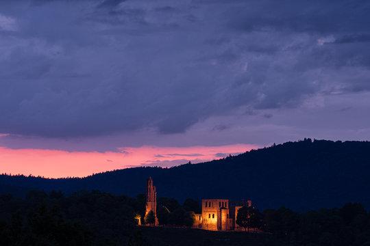 castle after sunset