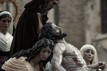 Fototapete - Semana santa de Sevilla, Hermandad de Santa Marta