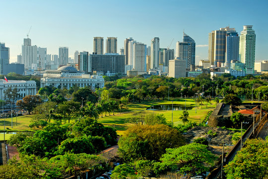 Manila  -  the capital of the Philippines
