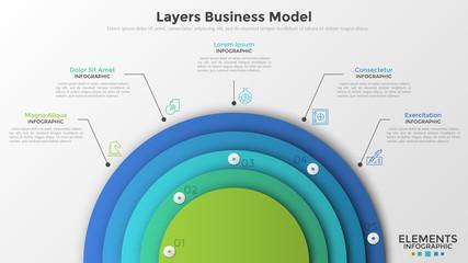 Obraz Modern infographic design template - fototapety do salonu