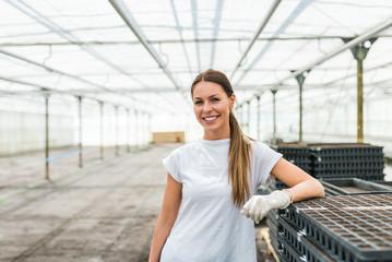 Portrait of a successful young female farmer.