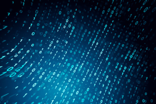 Creative blue binary code background