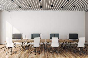 Concrete coworking officeinterior