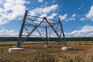Fundment für den Aufbau eines Strommast
