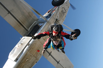 Skydive tandem on a cold and dry day.