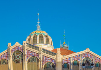 Mercado de Colon (Columbus Market), the historical public market n the city center of Valencia, Spain. It is one of the main works of the Valencian Art Nouveau