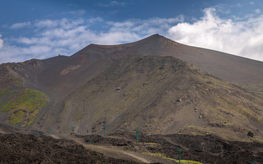 Silvestri Crater in Mount Etna. Exposure of the Silvestri Crater in Mount Etna at 1.900 meters, Sicily Island, Italy.