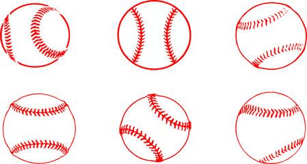 baseball icon on white background