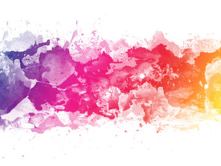 Colorful Abstract artistic watercolor splash background
