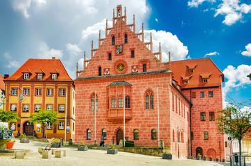 Gotisches Rathaus von Sulzbach-Rosenberg in der Oberpfalz, Bayern