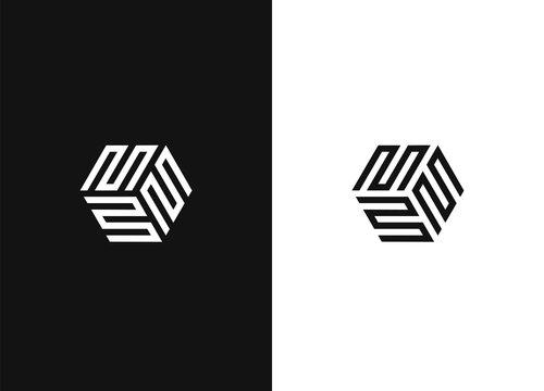 Black white version of the design element