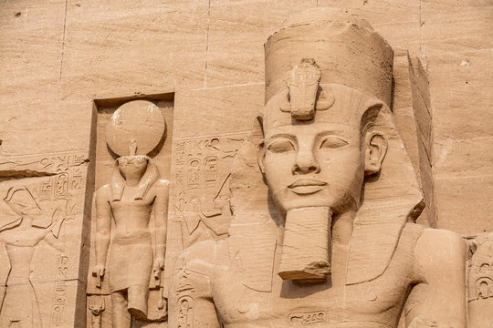 Statue of Ramesses the Great, Abu Simbel temple, Egypt