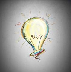 Fototapete - The concept of idea