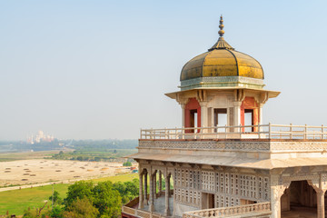Awesome view of the Musamman Burj in the Agra Fort