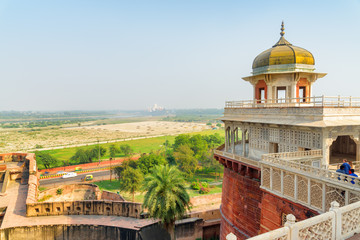 Fabulous view of the Musamman Burj in the Agra Fort