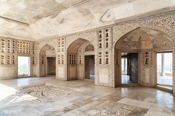 Amazing view of the Diwan-i-Khas at the Agra Fort, India