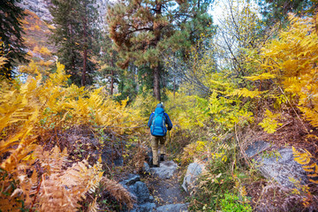 Hike in autumn season