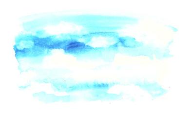 파란하늘 벡터이미지 Fotobehang