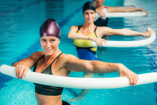 Aqua Aerobic Training in Water Sport Centre.