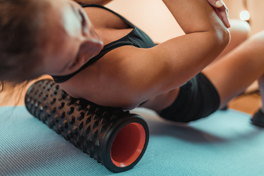 Shoulder Massage with Foam Roller
