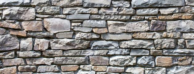 Foto auf AluDibond Steine old rock stone wall texture