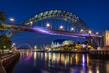 Newcastle at Night on the river Tyne
