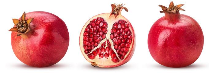 Set pomegranate whole, cut in half