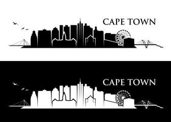 Fototapete - Cape town skyline - South Africa - vector illustration