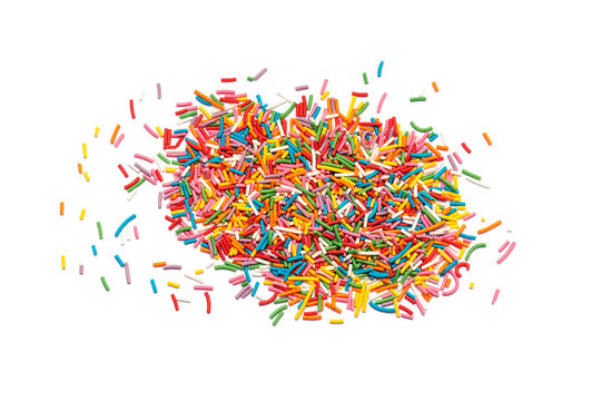Sugar Sprinkles or Candy Sprinkles isolated on white background