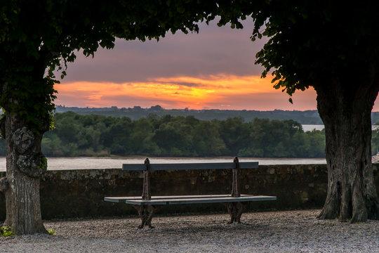 Sunset sur la citadelle de Blaye