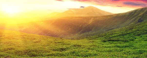 Wall Mural - Mountains landscape in the summer