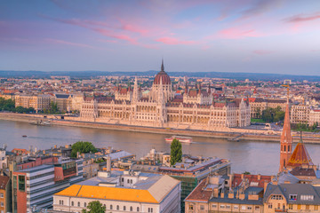 Wall Mural - Budapest skyline in Hungary