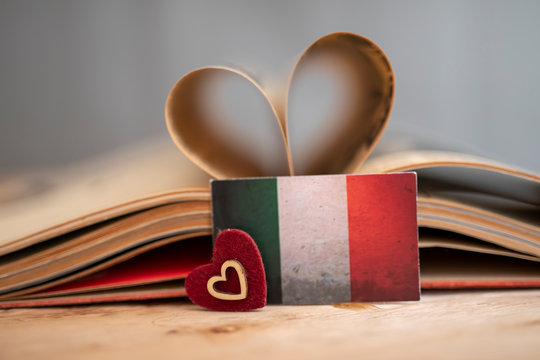 Italian Learning Concept