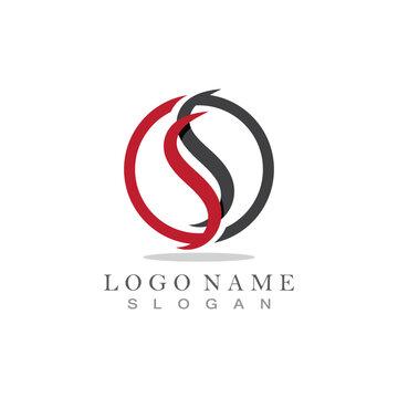 SS logo design template vector