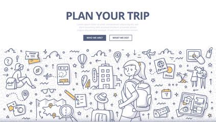 Plan Your Trip Doodle Concept